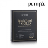 PETITFEE Black Pearl & Gold Hydrogel Mask Pack - 5шт