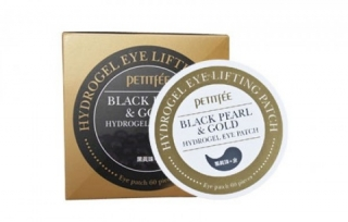 PETITFEE Black Pearl & Gold Hydrogel Eye Patch 60шт