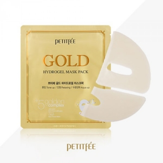 PETITFEE Gold Hydrogel Mask Pack +5 golden complex 32g - 1шт