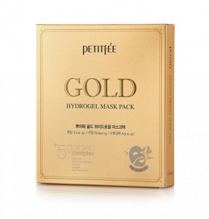 PETITFEE Gold Hydrogel Mask Pack +5 golden complex - 5шт