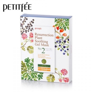PETITFEE Resurrection Plant Soothing Gel Mask 30g x10шт