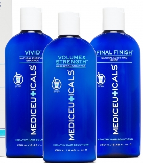 Mediceuticals Healthy Hair Kit (Vivid 250 ml - Volume&Strength 250ml - Final Fin