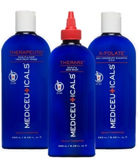 Mediceuticals Scalp Treatment Kit Dandruff 3pc (X-Folate)